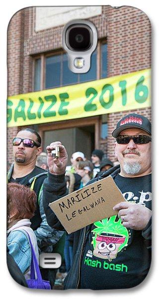 Legalisation Of Marijuana Rally Galaxy S4 Case by Jim West