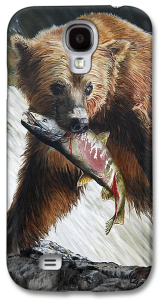 Salmon Paintings Galaxy S4 Cases - Legend of the Falls Galaxy S4 Case by Rob Dreyer AFC