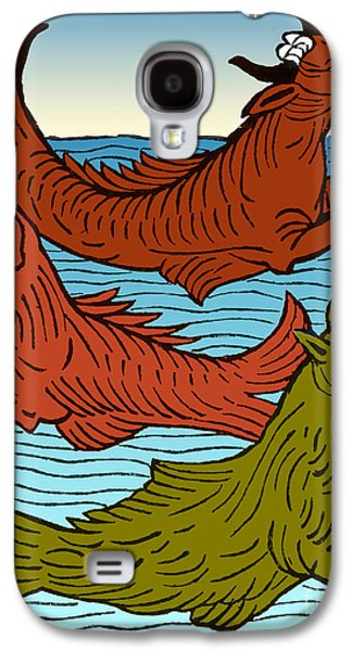 Folkloric Galaxy S4 Cases - Legendary Sea Creatures, 15th Century Galaxy S4 Case by Science Source