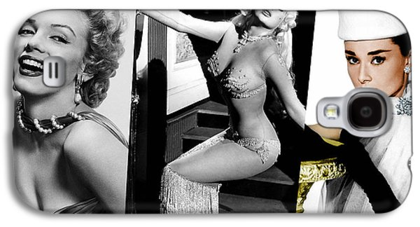 Celebrities Galaxy S4 Cases - Legends Marilyn Monroe Jane Mansfield and Audrey Hepburn Galaxy S4 Case by Marvin Blaine