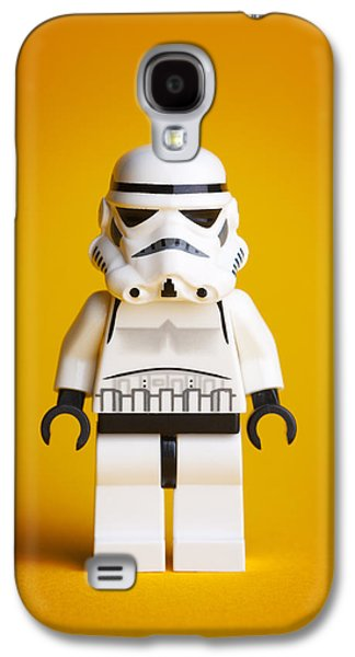 Character Portraits Photographs Galaxy S4 Cases - Lego Storm Trooper Galaxy S4 Case by Samuel Whitton