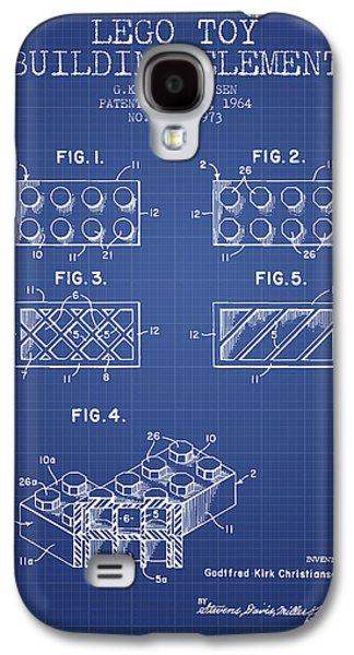 Lego Digital Art Galaxy S4 Cases - Lego Toy Building Element Patent from 1964 - Blueprint Galaxy S4 Case by Aged Pixel