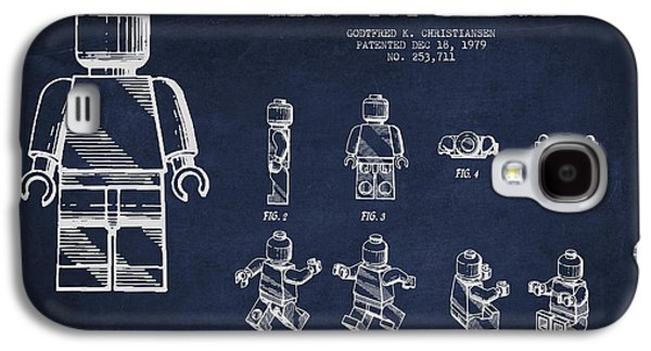 Lego Digital Art Galaxy S4 Cases - Lego toy Figure Patent Drawing Galaxy S4 Case by Aged Pixel