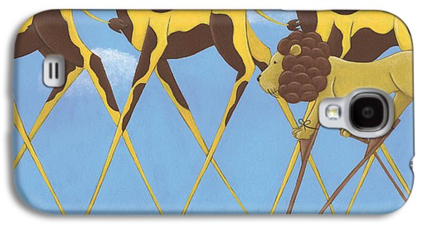 Studio Drawings Galaxy S4 Cases - Whimsical Giraffe Painting  Galaxy S4 Case by Christy Beckwith