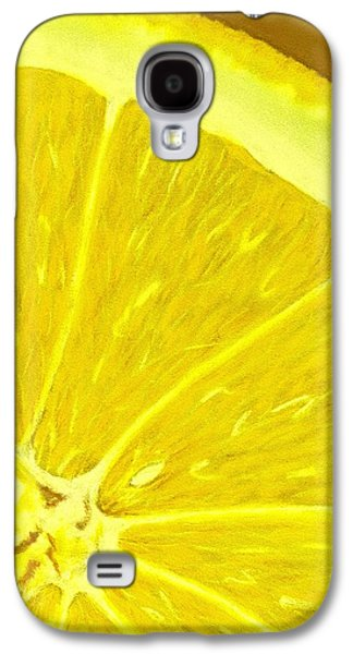 Orange Pastels Galaxy S4 Cases - Lemon Galaxy S4 Case by Anastasiya Malakhova