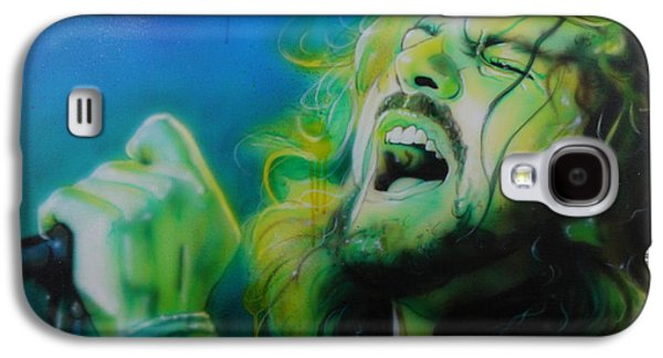 Eddie Vedder - ' Lemon Yellow Sun ' Galaxy S4 Case by Christian Chapman Art