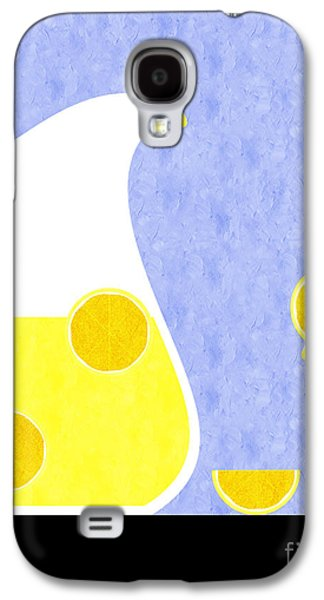 Lemonade And Glass Blue Galaxy S4 Case by Andee Design