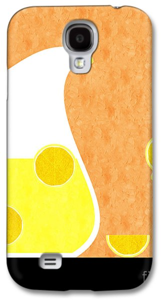 Lemonade And Glass Orange Galaxy S4 Case by Andee Design