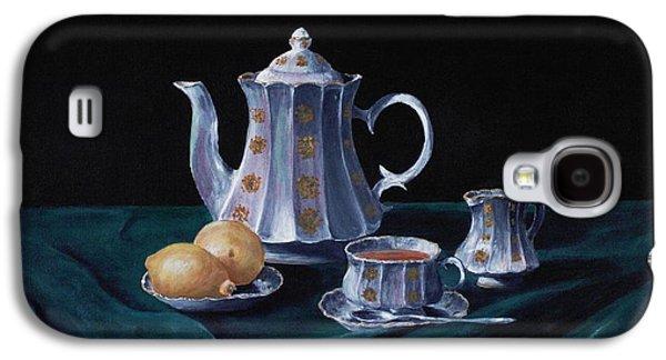 Interior Still Life Drawings Galaxy S4 Cases - Lemons and Tea Galaxy S4 Case by Anastasiya Malakhova