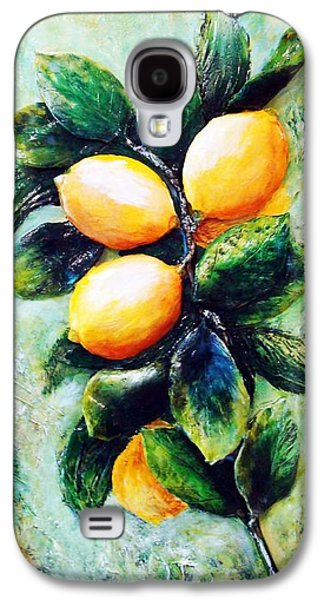 Original Sculptures Galaxy S4 Cases - Lemons in sunshine Galaxy S4 Case by Raya Finkelson
