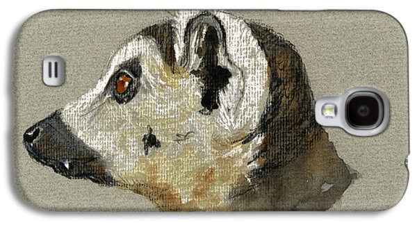 Nature Study Paintings Galaxy S4 Cases - Lemur head study Galaxy S4 Case by Juan  Bosco