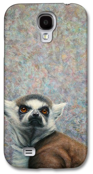 Nature Abstract Paintings Galaxy S4 Cases - Lemur Galaxy S4 Case by James W Johnson