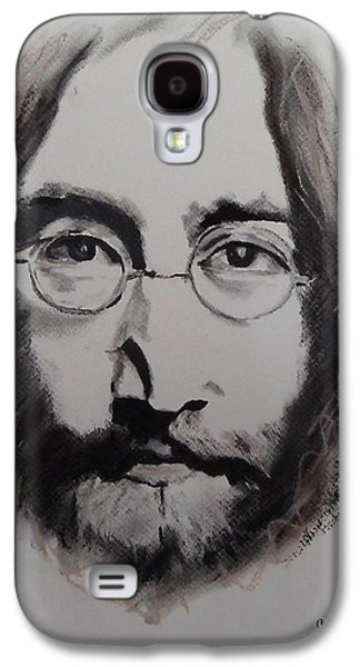 Beatles Pastels Galaxy S4 Cases - Lennon Galaxy S4 Case by Julie Hollis