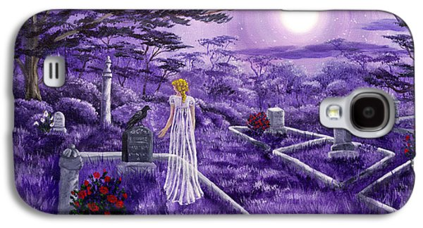 Graveyard Galaxy S4 Cases - Lenore in Lavender Moonlight Galaxy S4 Case by Laura Iverson