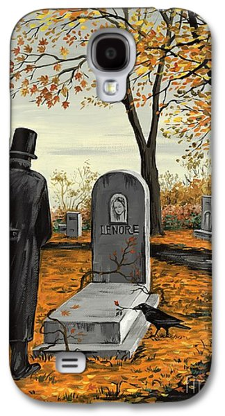Headstones Paintings Galaxy S4 Cases - Lenore Lenore Galaxy S4 Case by Margaryta Yermolayeva