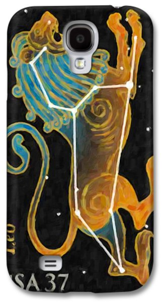 Constellations Paintings Galaxy S4 Cases - Leo Galaxy S4 Case by Lanjee Chee
