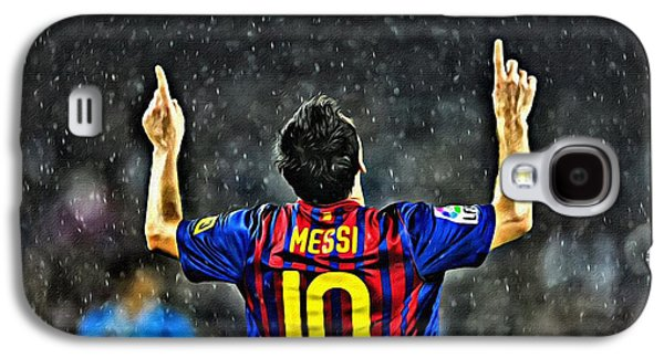 Athlete Digital Galaxy S4 Cases - Leo Messi Poster Art Galaxy S4 Case by Florian Rodarte