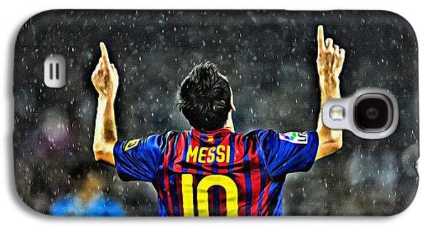 Leo Galaxy S4 Cases - Leo Messi Poster Art Galaxy S4 Case by Florian Rodarte