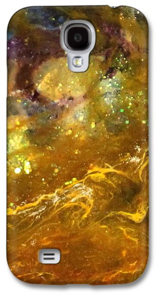 Splashy Paintings Galaxy S4 Cases - Leo123 Galaxy S4 Case by Kathleen Fowler