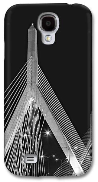 Susan Candelario Galaxy S4 Cases - Leonard P. Zakim Bunker Hill Memorial Bridge BW II Galaxy S4 Case by Susan Candelario