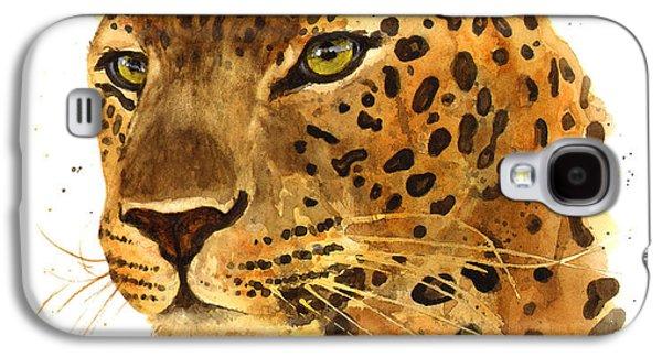 Leopard Gaze Galaxy S4 Case by Alison Fennell