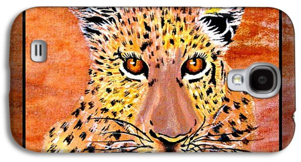 Portraits Tapestries - Textiles Galaxy S4 Cases - Leopard Late Afternoon Galaxy S4 Case by Sylvie Heasman