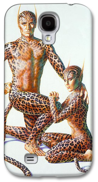 1980s Galaxy S4 Cases - Leopard People Galaxy S4 Case by Andrew Farley