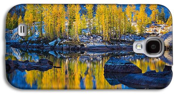 Landscapes Photographs Galaxy S4 Cases - Leprechaun Tamaracks Galaxy S4 Case by Inge Johnsson