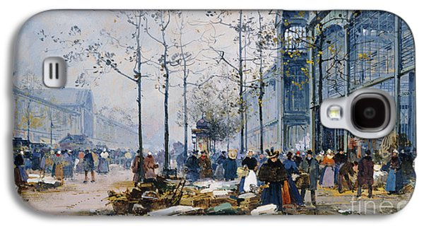 Business Drawings Galaxy S4 Cases - Les Halles Paris Galaxy S4 Case by Jacques Lieven