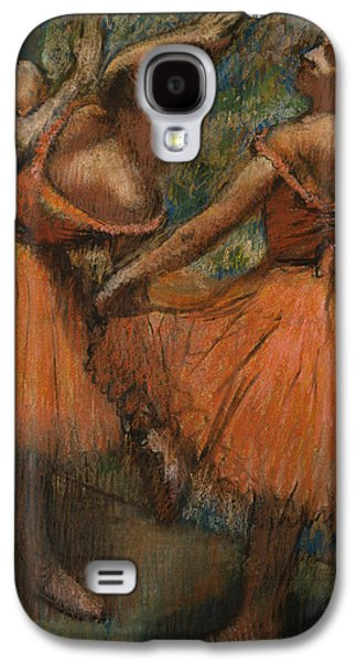Tutus Paintings Galaxy S4 Cases - Les Jupes Rouge Galaxy S4 Case by Edgar Degas