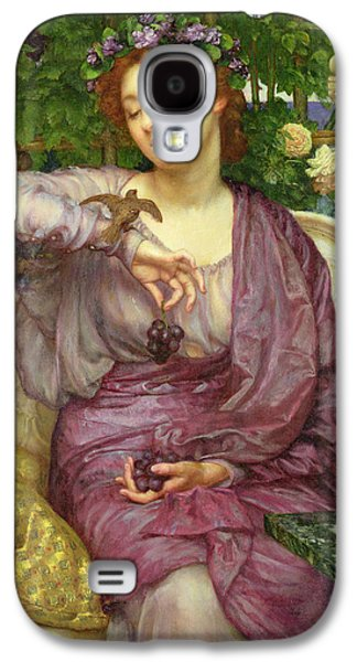 Alluring Paintings Galaxy S4 Cases - Lesbia And Her Sparrow Galaxy S4 Case by Sir Edward John Poynter