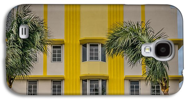 Leslie Hotel South Beach Miami Art Deco Detail 3 - Hdr Style Galaxy S4 Case by Ian Monk