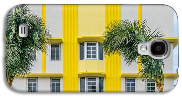 Leslie Hotel South Beach Miami Art Deco Detail 3 Galaxy S4 Case by Ian Monk