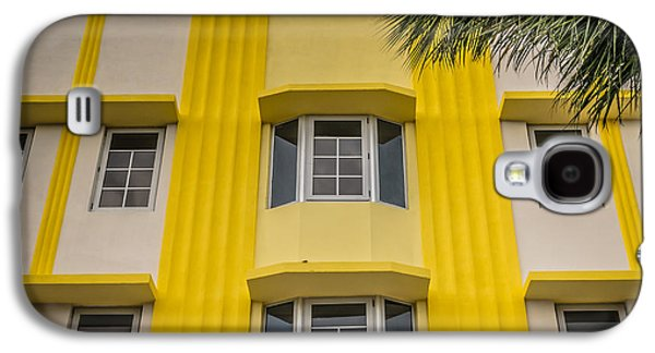 Leslie Hotel South Beach Miami Art Deco Detail - Square - Hdr St Galaxy S4 Case by Ian Monk