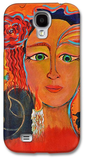Incarnation Paintings Galaxy S4 Cases - Let it Be in Me Galaxy S4 Case by Mary Ann Matthys