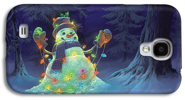 Winter Paintings Galaxy S4 Cases - Let it Glow Galaxy S4 Case by Michael Humphries