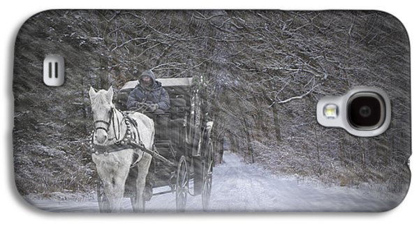 Horse And Buggy Galaxy S4 Cases - Let it Snow Galaxy S4 Case by Randall Nyhof