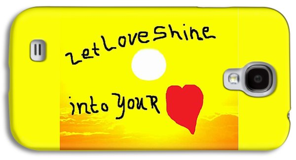 Etc. Paintings Galaxy S4 Cases - Let Love Shine Galaxy S4 Case by Earnestine Clay