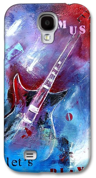 Mix Medium Galaxy S4 Cases - Let the music play Galaxy S4 Case by Elise Palmigiani