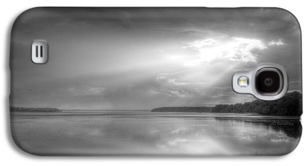 Bible Quotes Galaxy S4 Cases - Let There Be Light Black and White Galaxy S4 Case by JC Findley