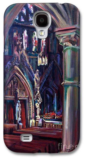 Church Pillars Paintings Galaxy S4 Cases - Let Us Pray Galaxy S4 Case by John  Reilly