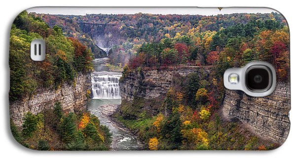 River Flooding Galaxy S4 Cases - Letchworth Middle Falls Galaxy S4 Case by Mark Papke