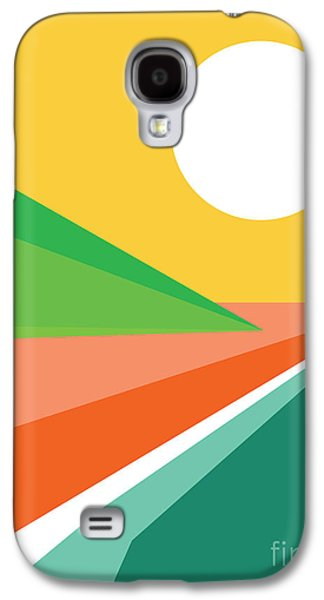 Colorful Abstract Digital Galaxy S4 Cases - Lets all go to the beach Galaxy S4 Case by Budi Kwan