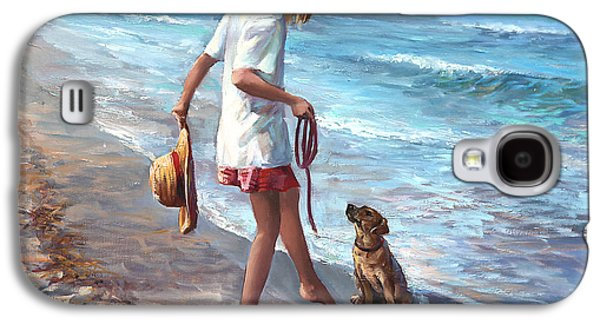 Beach Landscape Galaxy S4 Cases - Lets Play Galaxy S4 Case by Laurie Hein