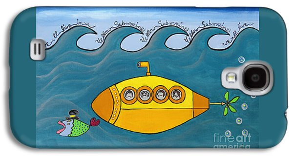 Beatles Galaxy S4 Cases - Lets Sing The Chorus Now - the Beatles Yellow Submarine Galaxy S4 Case by Ella Kaye Dickey