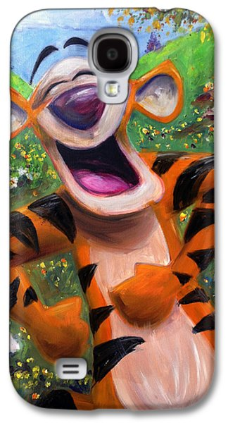 Tiger Galaxy S4 Cases - Lets You and Me Bounce - Tigger Galaxy S4 Case by Andrew Fling