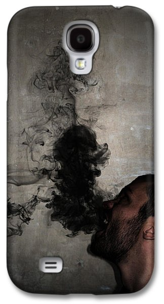 Smoke Digital Art Galaxy S4 Cases - Letting the darkness out Galaxy S4 Case by Nicklas Gustafsson