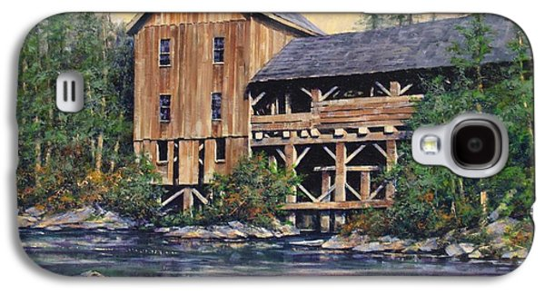 Grist Mill Paintings Galaxy S4 Cases - Lewisville Grist Mill Afternoon Galaxy S4 Case by Jim Gola