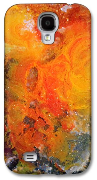 Splashy Paintings Galaxy S4 Cases - Lg1003 Galaxy S4 Case by Kathleen Fowler
