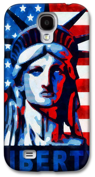 Government Mixed Media Galaxy S4 Cases - Liberty 1 Galaxy S4 Case by Angelina Vick